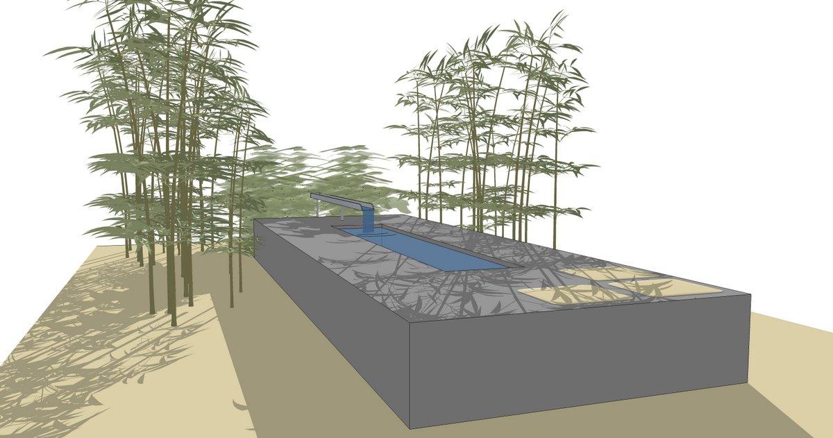 Gartengestaltung Frankfurt betonbecken entwurf rudorf schöne gärten gartenplanung